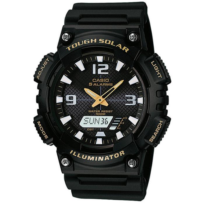 Наручные часы Casio AQ-S810W-1BAQ-S810W-1BНаручные часы Casio AQ-S810W с питанием от солнечных батарей.