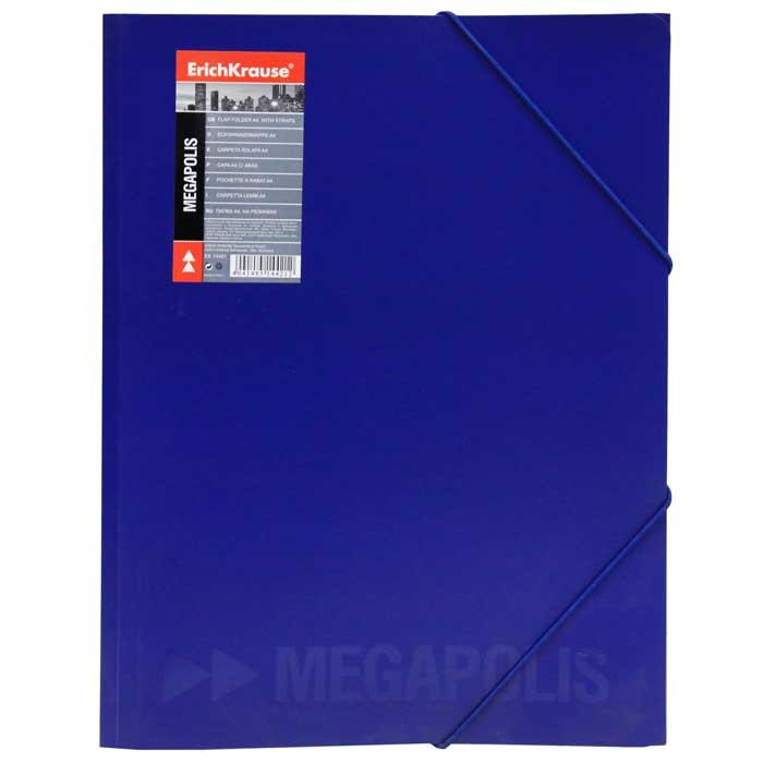 Папка на резинке Erich Krause Megapolis, цвет: синий14421Папка Erich Krause Megapolis с тремя клапанами - удобный и практичный офисный инструмент, предназначенный для хранения и транспортировки рабочих бумаг и документов формата А4. Изготовлена из жесткого фактурного пластика синего цвета с частичным лакированием и закрывается при помощи угловых резинок. Согнув клапаны по линии биговки, можно легко увеличить объем папки, что позволит вместить большее количество документов. С такой папкой ваши документы всегда будут в полном порядке! Характеристики: Материал: пластик, текстиль. Цвет: синий. Размер папки: 32 см х 22,5 см x 3,5 см. Изготовитель: Китай.