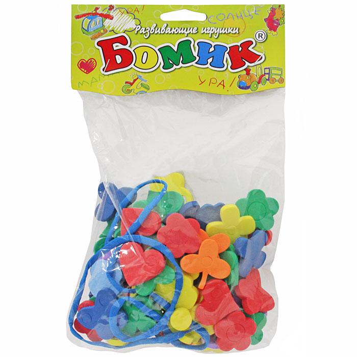 Бомик Игра-шнуровка Ассорти Цветы605Игрушка-шнуровка Ассорти: Цветы - увлекательная игра для малышей! Продевая шнурочки в дырочки, расположенные на поверхности фигур, ребенок сможет собрать башенку, пирамидку или другую игрушку. В наборе четыре основные фигуры - звездочка, цветочек, сердечко и бабочка. Занятия с такой игрушкой способствуют развивитию логического мышления, фантазии, мелкой моторики рук, а также научат малыша аккуратности и усидчивости.