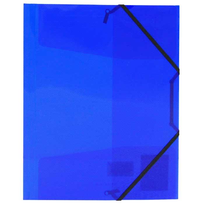 Папка на резинке Erich Krause Diagonal, цвет: синий14392Папка Erich Krause Diagonal с тремя клапанами - удобный и практичный офисный инструмент, предназначенный для хранения и транспортировки рабочих бумаг и документов формата А4. Папка изготовлена из полупрозрачного глянцевого пластика синего цвета с рифленой поверхностью и закрывается при помощи угловых резинок. Согнув клапаны по линии биговки, можно легко увеличить объем папки, что позволит вместить большее количество документов. С такой папкой ваши документы всегда будут в полном порядке! Характеристики: Материал: пластик, текстиль. Цвет: синий. Размер папки: 32 см х 22,5 см x 3,5 см. Изготовитель: Китай.