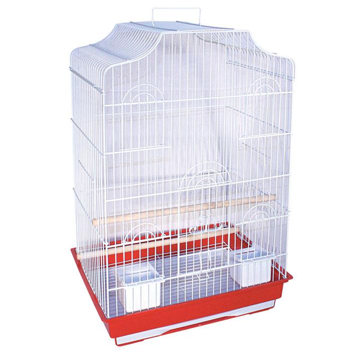 Клетка для птиц, 47,5 см х 36 см х 68 смK-6007Клетка для птиц, выполненная из пластика и металла с эмалированным покрытием, предназначена для мелких птиц. Вы можете поселить в нее одну или две птицы. Изделие состоит из большого поддона и решетки. Клетка снабжена металлической дверцей и четырьмя окошками, которые открываются и закрываются движением вверх-вниз. В основании клетки находится малый выдвижной поддон с металлической решеткой сверху. Поддон удобно и легко чистить, так как он выдвигается из клетки, не беспокоя питомцев. Клетка также оснащена четырьмя кормушками, двумя жердочками и ручкой для переноски. Комплектация: - клетка, - малый поддон с решеткой, - кормушка: 4 шт., - жердочка: 2 шт. Размер кормушки: 12 см х 95 см х 7 см. Длина жердочки: 47,5 см. Размер выдвижного поддона: 40,5 см х 31 см х 2,5 см. Размер большого поддона: 47,5 см х 36,5 см х 9 см. Размер клетки: 47,5 см х 36 см х 68 см.
