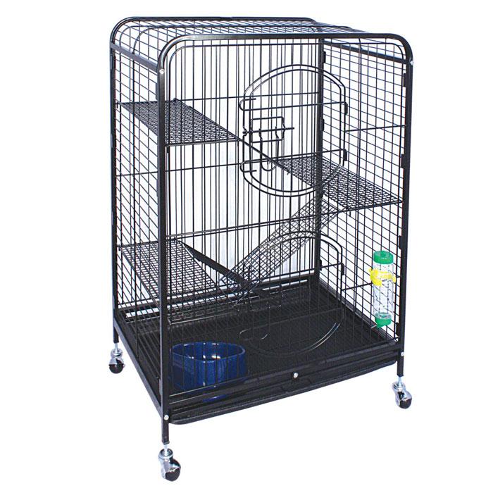 Клетка для мелких животных Triol, на колесиках, 64 см х 43,5 см х 92,5 смK-C2-1Клетка для мелких животных Triol выполнена из эмалированного металла. Оснащена колесиками для удобной транспортировки. Предназначена для содержания мелких грызунов. Клетка оснащена трехуровневой лесенкой, поилкой и кормушкой. Имеется две дверцы на замках. Просторная и уютная, такая клетка станет прекрасным домиком для вашего питомца, где он будет чувствовать себя уютно и всегда сможет спрятаться при чувстве опасности. Размер клетки: 64 см х 43,5 см х 92,5 см.