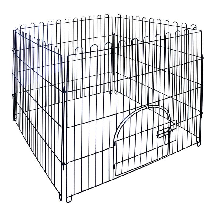 Вольер для животных Triol, 84 см х 95 см х 84 смK-K2Вольер для животных Triol выполнен из эмалированного металла. Предназначен для содержания животных. Имеется дверца, закрывающаяся на замок. Размер секции: 84 см х 95 см. Размер вольера: 84 см х 95 см х 84 см.