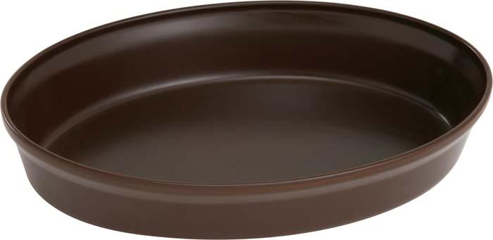 Форма для запекания Ceraflame, цвет: шоколад, 36 см х 25 смA4095Овальная форма Ceraflame, выполненная из высококачественной керамики, будет отличным выбором для всех любителей домашней выпечки. Благодаря уникальному свойству керамики долго сохранять тепло, форма идеальна не только для приготовления пищи, но и для сервировки. Ваши блюда будут долго оставаться горячими после того, как вы подадите их на стол. Емкость идеальна для запекания в духовке птицы и мяса, для приготовления лазаньи, запеканки и даже пирогов. Керамика, из которой выполнена форма, устойчива к резким перепадам температур, способна выдерживать очень высокие температуры, сохраняет аромат и полезные свойства. Форму можно использовать на открытом огне, на газовой или электрической печи, в микроволновой или конвекционной печи, в морозильной камере или посудомоечной машине. Форма покрыта уникальной гладкой эмалью, устойчивой к трещинам и царапинам. Непористая поверхность исключает образование бактерий, великолепно моется, и будет оставаться новой и блестящей даже после...