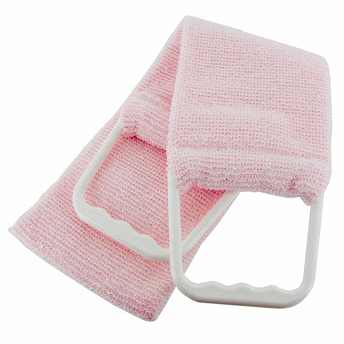 Мочалка-пояс Riffi, двухсторонняя. 927, цвет: бледно-розовый927Двухсторонняя мочалка-пояс Riffi применяется для мытья тела, отлично действует как пилинговое средство, тонизируя, массируя и эффективно очищая вашу кожу. Мягкой стороной хорошо намыливать тело и наносить косметические средства после душа. Жесткую (с люрексом) сторону пояса используют для легкого пилинга и массажа кожи. Для удобства применения пояс снабжен двумя пластиковыми ручками. Благодаря отшелушивающему эффекту мочалки-пояса, кожа освобождается от отмерших клеток, становится гладкой, упругой и свежей. Интенсивный и пощипывающе свежий массаж тела с применением Riffi стимулирует кровообращение, активирует кровоснабжение, способствует обмену веществ, что в свою очередь позволяет себя чувствовать бодрым и отдохнувшим после принятия душа или ванны. Riffi регенерирует кожу, делает ее приятно нежной, мягкой и лучше готовой к принятию косметических средств. Приносит приятное расслабление всему организму. Борется со спазмами и болями в мышцах, предупреждает образование...