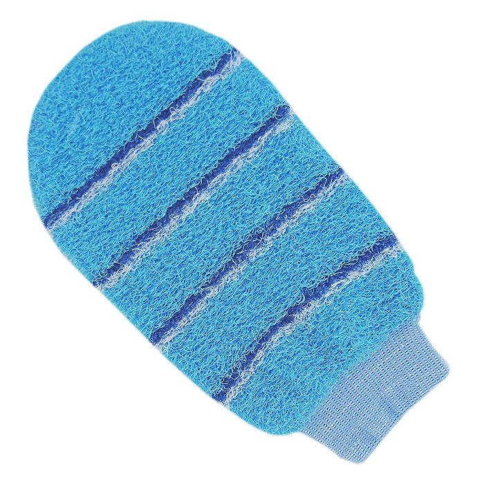Мочалка-рукавица массажная Riffi, цвет: голубой804Мочалка-рукавица Riffi идеально подходит для интенсивного массажа и пилинга. Цветные полоски из более жесткого материала хорошо освобождают кожу от ороговелостей и отмерших клеток, делая ее гладкой и упругой. Интенсивный слегка пощипывающий массаж тела с применением мочалки Riffi стимулирует кровообращение, активирует кровоснабжение и улучшает общее самочувствие, борется с болями и спазмами в мышцах. В результате у вас мягкая и чистая кожа, мочалка помогает бороться с целлюлитом, предотвращает появление огрубевшей кожи и вросших волос. Riffi приносит приятное расслабление всему организму. Варежка необычайно гигиенична и долговечна.
