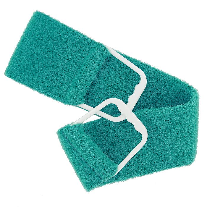 Riffi Мочалка-пояс, массажная, жесткая, цвет: зеленый