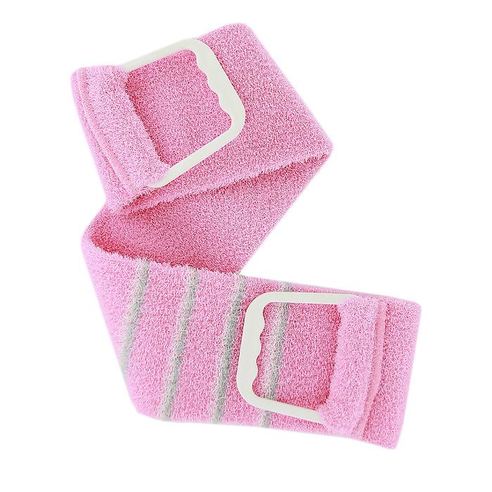 Мочалка-пояс массажная Riffi, жесткая, цвет розовый