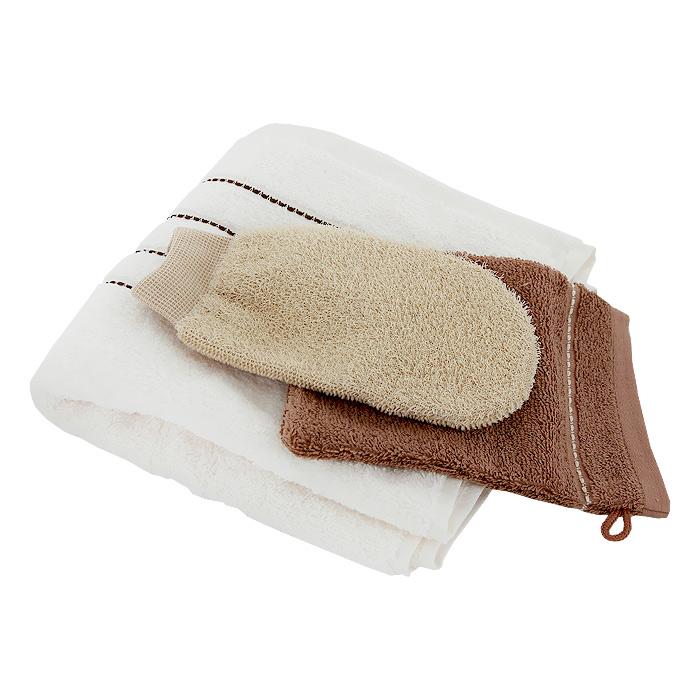 Набор банно-массажный Riffi SPA и массаж, 3 предмета, в ассортименте7081Великолепный набор Riffi SPA и массаж поможет получить максимальный эффект от банных процедур. В состав набора входят: банное махровое полотенце, фланелевая косметическая рукавица и двухсторонняя рукавица для массажа и активного пилинга. Все предметы изготовлены из натуральных, экологически чистых материалов и гипоаллергенны.