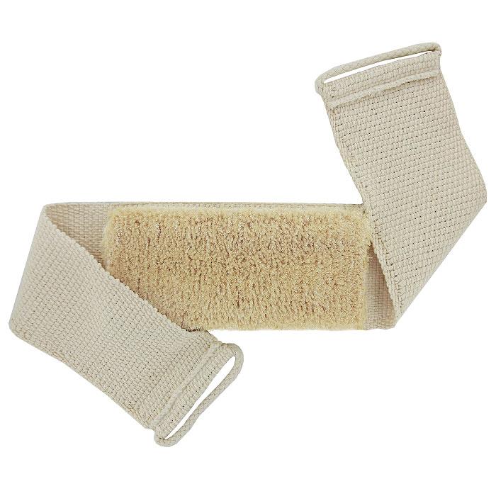 Мочалка-пояс массажная Riffi, с щетиной. 131131Мочалка-пояс Riffi с щетиной используется для мытья тела, обладает активным антицеллюлитным эффектом, отлично действует как пилинговое средство, тонизируя, массируя и эффективно очищая вашу кожу. Сизалевая щетина увеличивает глубину антицеллюлитного и тонизирующего действия массажа на кожу, подкожный слой и мышцы. Мочалку можно использовать для сухого и влажного массажа. Для удобства применения пояс оснащен двумя веревочными ручками. Благодаря отшелушивающему эффекту мочалки-пояса, кожа освобождается от отмерших клеток, становится гладкой, упругой и свежей. Массаж тела с применением Riffi стимулирует кровообращение, активирует кровоснабжение, способствует обмену веществ, что в свою очередь позволяет себя чувствовать бодрым и отдохнувшим после принятия душа или ванны. Riffi регенерирует кожу, делает ее приятно нежной, мягкой и лучше готовой к принятию косметических средств. Приносит приятное расслабление всему организму. Борется со спазмами и болями в мышцах, предупреждает...