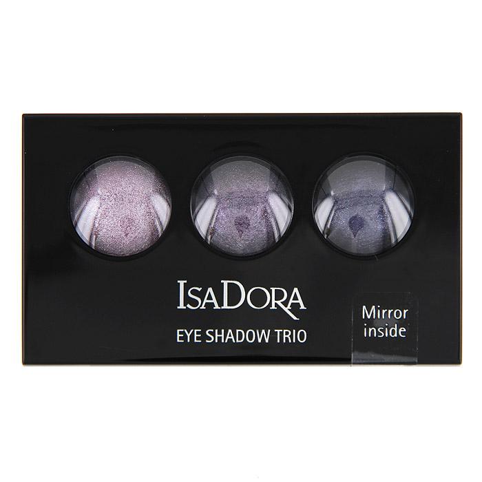 Тени для век Isa Dora Eye Trio, запеченные, 3 цвета, тон №85, цвет: тщеславный сиреневый, 1,8 г122585Запеченные тени для век от Isa Dora Eye Trio обладают уникальной формулой: невесомой текстурой и потрясающим мерцающим эффектом. Три оттенка в палетке идеально подобраны для создания восхитительного эффекта. Шелковистая консистенция создает идеально стойкое мерцающее покрытие. Насыщенная красящими пигментами формула обеспечивает яркий и стойкий цвет теней. Высококачественный двухсторонний аппликатор позволяет наносить тени и проводить контур.