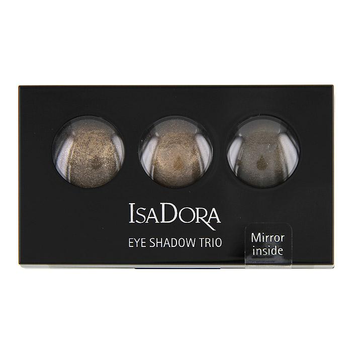 Тени для век Isa Dora Eye Trio, запеченные, 3 цвета, тон №83, цвет: гавана коричневая, 1,8 г122583Запеченные тени для век от Isa Dora Eye Trio обладают уникальной формулой: невесомой текстурой и потрясающим мерцающим эффектом. Три оттенка в палетке идеально подобраны для создания восхитительного эффекта. Шелковистая консистенция создает идеально стойкое мерцающее покрытие. Насыщенная красящими пигментами формула обеспечивает яркий и стойкий цвет теней. Высококачественный двухсторонний аппликатор позволяет наносить тени и проводить контур.