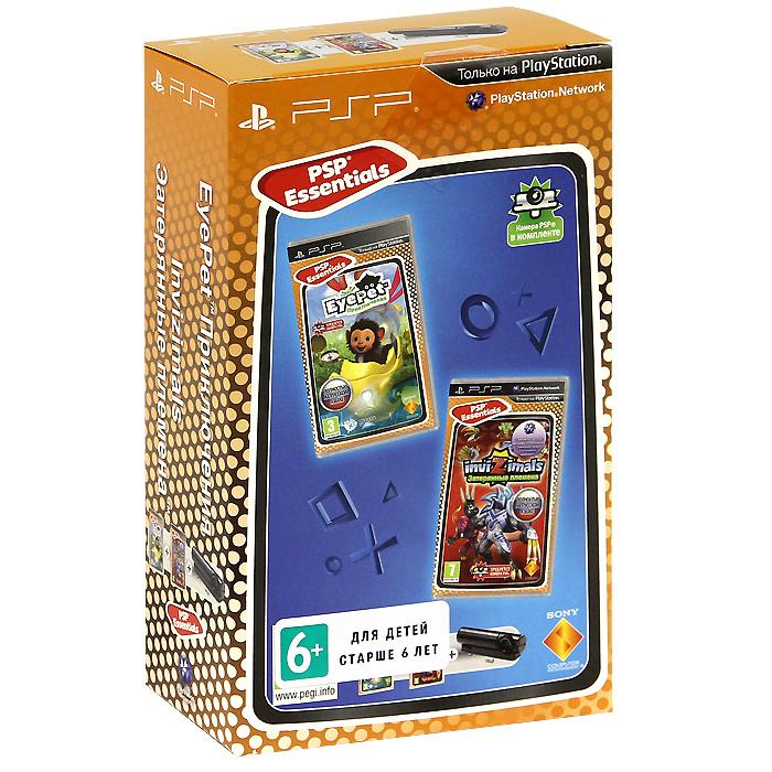 Комплект: игра EyePet: Приключения. Essentials + игра Invizimals: Затерянные племена. Essentials + камера PSPВ комплект входит: Диск с игрой EyePet: Приключения. Essentials. Диск с игрой Invizimals: Затерянные племена. Essentials. Камера PSP. Волшебная карточка. Руководство пользователя.