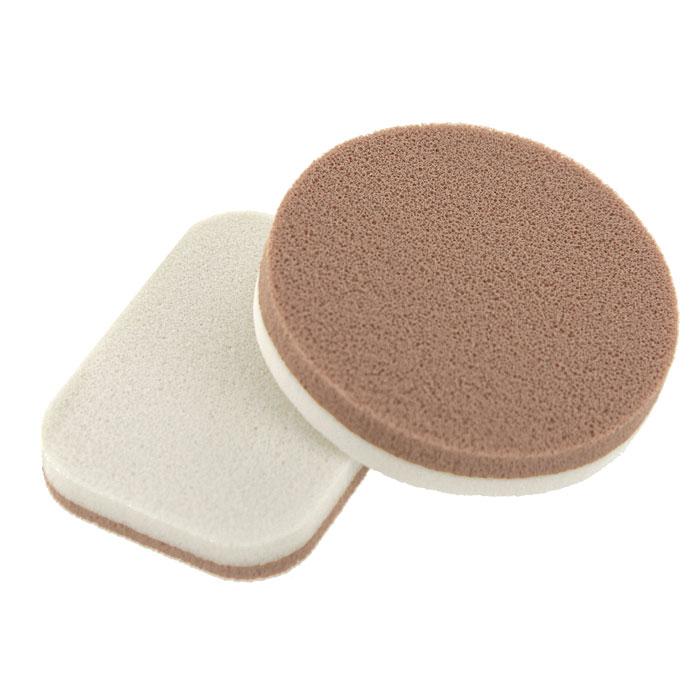 Губка для макияжа Riffi, двухслойная, из латекса, 2 шт