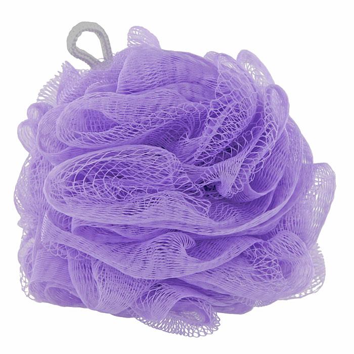 Riffi Мочалка-губка Массажный цветок, средняя, цвет: фиолетовый. 340340Мочалка Riffi Массажный цветок не вызывает аллергии, обладает хорошими моющими и пилинговыми свойствами. Она дает много пены при малом количестве мыла или моющего геля. Для удобства применения снабжена веревочной петлей.