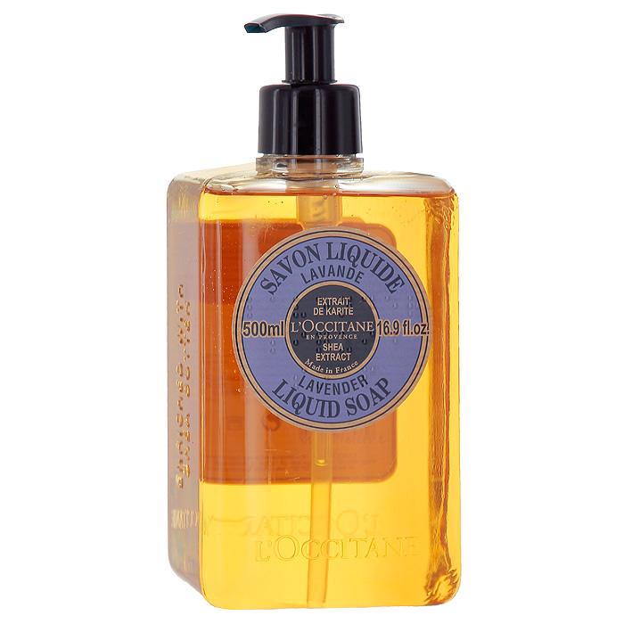 Мыло жидкое LOccitane Лаванда, 500 мл318249Мыло жидкое LOccitane Лаванда достаточно мягкое даже для сухой, чувствительной и обезвоженной кожи. Содержит питательное масло карите и успокаивающий экстракт алоэ вера. Обладает ароматом лаванды.