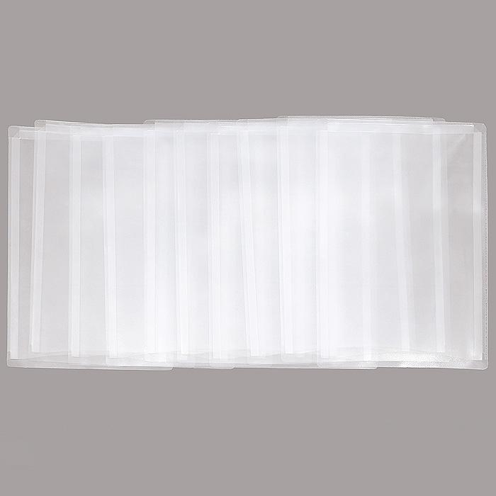 "Карман расширяющийся ""Crystal Clear"", 10 шт, формат А4, Erich Krause"