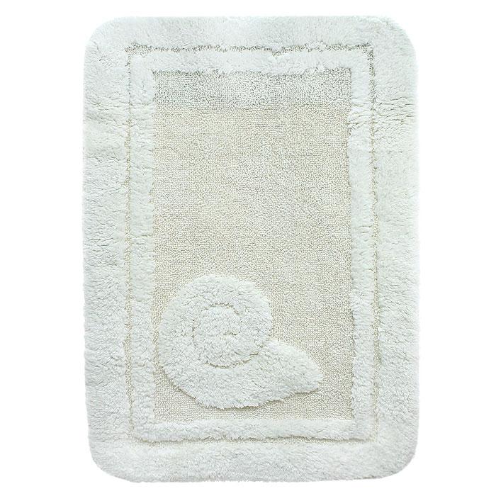 Коврик для ванной комнаты Escargot, цвет: натуральный, 60 x 90 см1041085Коврик Escargot выполнен из натурального хлопка. Материал из хлопка практически идеально впитывает влагу и быстро высыхает. Износостойкое волокно длительное время сохраняет первоначальный цвет и внешний вид. Прорезиненная основа коврика позволяет использовать его во влажных помещениях, предотвращает скольжение коврика по гладкой поверхности, а также обеспечивает надежную фиксацию ворса. Фабричная обработка кромки коврика увеличивает срок службы изделия и улучшает его внешний вид.