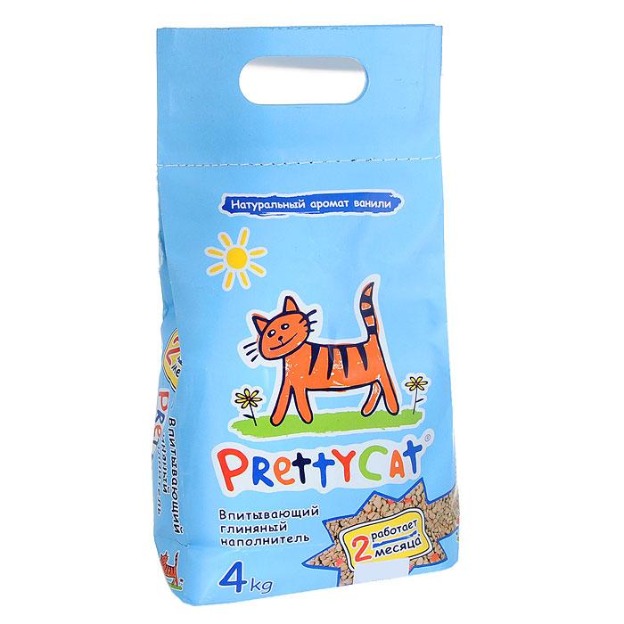 """Наполнитель """"Pretty Cat"""" для кошачьего туалета, глиняный, с део-кристаллами, аромат ванили"""