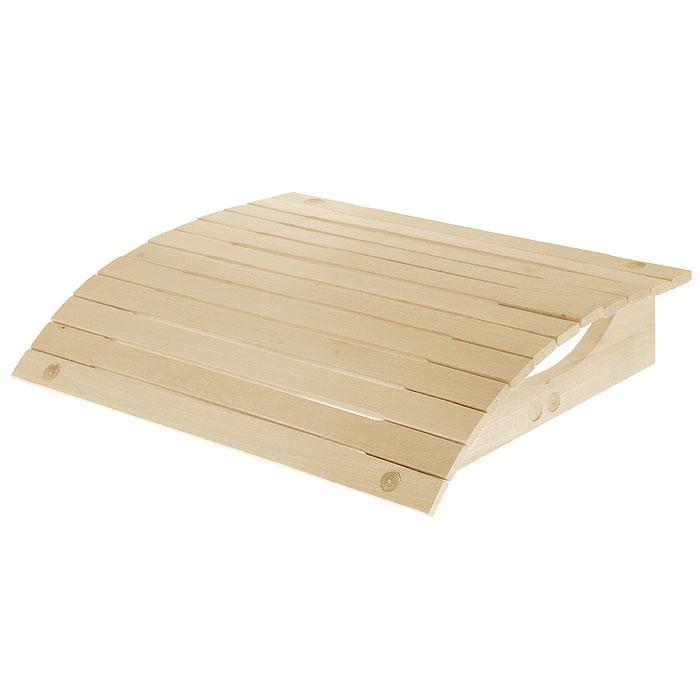 Подголовник для бани Банные штучки, мягкий, 34 х 34 х 8,5 см32144Мягкий подголовник Банные штучки, изготовленный из липы, сделает ваш отдых в бане еще более комфортным. Эластичная поверхность подголовника позволяет дощечкам прогибаться под нагрузкой. Ваша шея будет находиться в спокойном, расслабленном состоянии. Удобно устроившись на полке, вы получите настоящее удовольствие от банной процедуры! Интересная штука - баня. Место, где одинаково хорошо и в компании, и в одиночестве. Перекресток, казалось бы, разных направлений - общение и здоровье. Приятное и полезное. И всегда в позитиве. Характеристики: Материал: липа. Размер подголовника: 34 см х 34 см х 8,5 см. Производитель: Россия. Артикул: 32144.