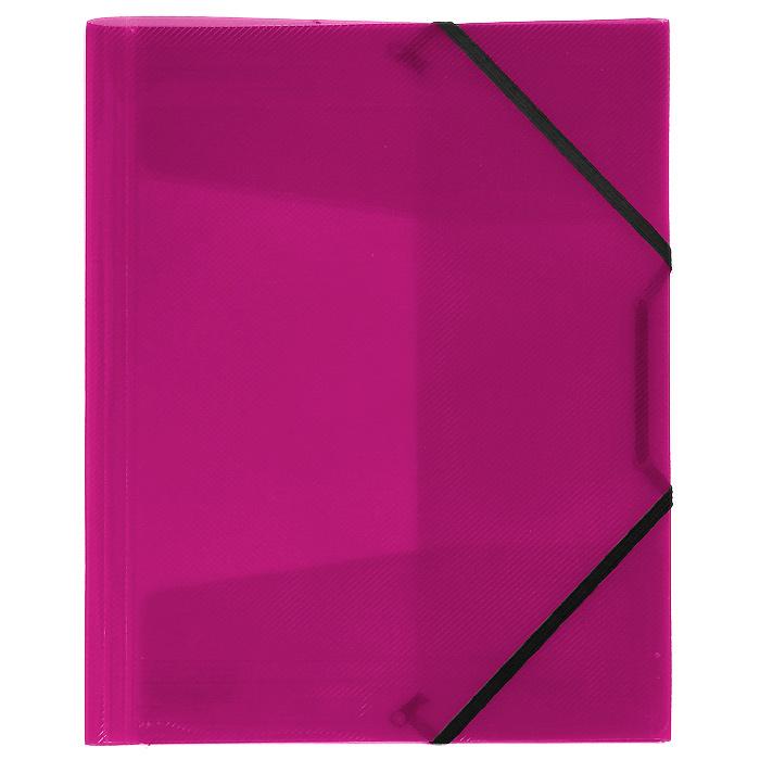 Папка на резинке Erich Krause Diagonal, цвет: розовый14392Папка Erich Krause Diagonal с тремя клапанами - удобный и практичный офисный инструмент, предназначенный для хранения и транспортировки рабочих бумаг и документов формата А4. Папка изготовлена из полупрозрачного глянцевого пластика с рифленой поверхностью и закрывается при помощи угловых резинок. Согнув клапаны по линии биговки, можно легко увеличить объем папки, что позволит вместить большее количество документов. С такой папкой ваши документы всегда будут в полном порядке! Характеристики: Материал: пластик, текстиль. Цвет: розовый. Размер папки: 32 см х 22,5 см x 3,5 см. Изготовитель: Китай.