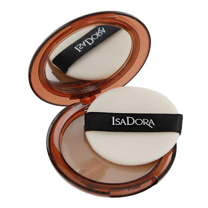 Компактная пудра Isa Dora Bronzing, бронзовая, тон №45, цвет: хайлат загар, 10 г124945Бронзовая компактная пудра Isa Dora Bronze предназначена для лица и тела и придает коже естественный, свежий загорелый вид. Также может использоваться в качестве румян и для моделирования овала лица. Пудра имеет легкую, невесомую текстуру и создает равномерное покрытие, которое выравнивает цвет кожи. Благодаря устойчивой формуле пудра не скатывается, не осыпается и не закупоривает поры. Высококачественный спонж и зеркальце позволяют корректировать макияж в течение всего дня.