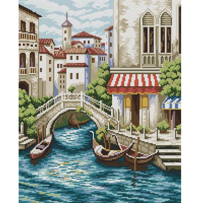 Набор для вышивания крестом Улочки Венеции, 37 х 44 см4105-14В наборе для вышивания крестом Улочки Венеции есть все необходимое для создания собственного чуда: обработанная канва Аида 14СТ белого цвета, хлопковые мулине, цветная символьная схема и инструкция по вышиванию. Красивый и стильный рисунок-вышивка, выполненный на канве, выглядит оригинально и всегда модно. Канва в наборах обработана крахмальным средством и полужесткая, что позволяет вышивать как с пяльцами, так и без них. Нитки, применяемые в наборах, изготавливаются из хлопка, гладкие, ровные, имеют стойкую окраску. Работа, сделанная своими руками, создаст особый уют и атмосферу в доме, и долгие годы будет радовать вас и ваших близких. Работа, которая отвлечет вас от повседневных забот, и превратится в увлекательное занятие!