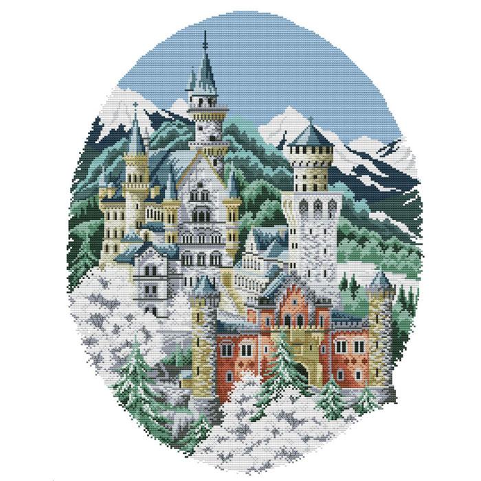 Набор для вышивания крестом Замок спящей красавицы, 49 х 59 см4135-14В наборе для вышивания крестом Замок спящей красавицы есть все необходимое для создания собственного чуда: обработанная канва Аида 14СТ белого цвета, хлопковые мулине, цветная символьная схема и инструкция по вышиванию. Красивый и стильный рисунок-вышивка, выполненный на канве, выглядит оригинально и всегда модно. Канва в наборах обработана крахмальным средством и полужесткая, что позволяет вышивать как с пяльцами, так и без них. Нитки, применяемые в наборах, изготавливаются из хлопка, гладкие, ровные, имеют стойкую окраску. Работа, сделанная своими руками, создаст особый уют и атмосферу в доме, и долгие годы будет радовать вас и ваших близких. Работа, которая отвлечет вас от повседневных забот, и превратится в увлекательное занятие!