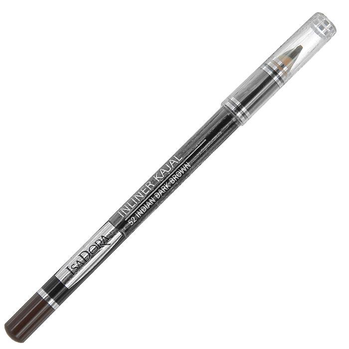Контурный карандаш для глаз Isa Dora Inliner Kajal, тон №52, цвет: индийский черно-коричневый, 1,3 г