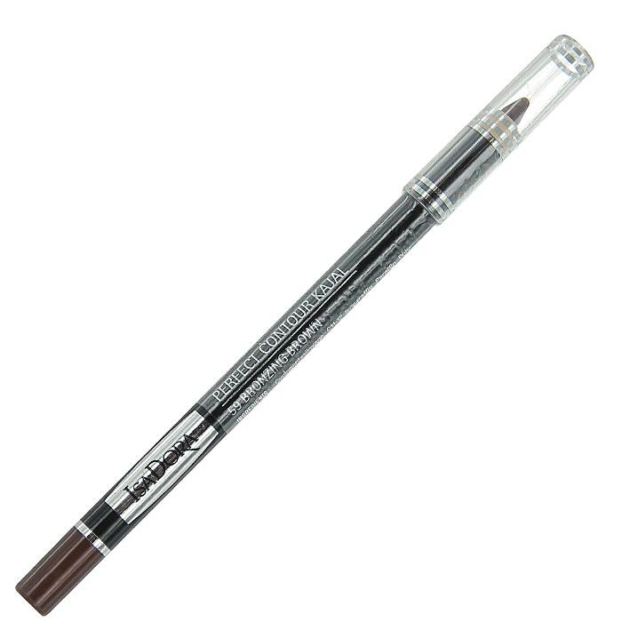 """Контурный карандаш для глаз Isa Dora """"Perfect Contour Kajal"""", тон №59, цвет: коричневый бронзовый, 1,2 г"""