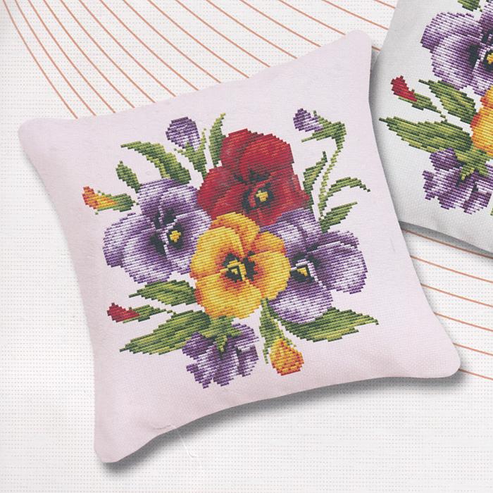 Набор для вышивания подушки Фиалки, цвет: розовый, 45 х 45 см011В наборе для вышивания подушки Фиалки есть все необходимое для создания оригинальной подушки: канва 11СТ, игла для вышивания, хлопковое мулине, основа для подушки с застежкой-молнией, цветная символьная схема и инструкция по вышиванию. Красивая и оригинальная подушка, выполненная собственноручно, станет самым ценным подарком для друзей и близких.