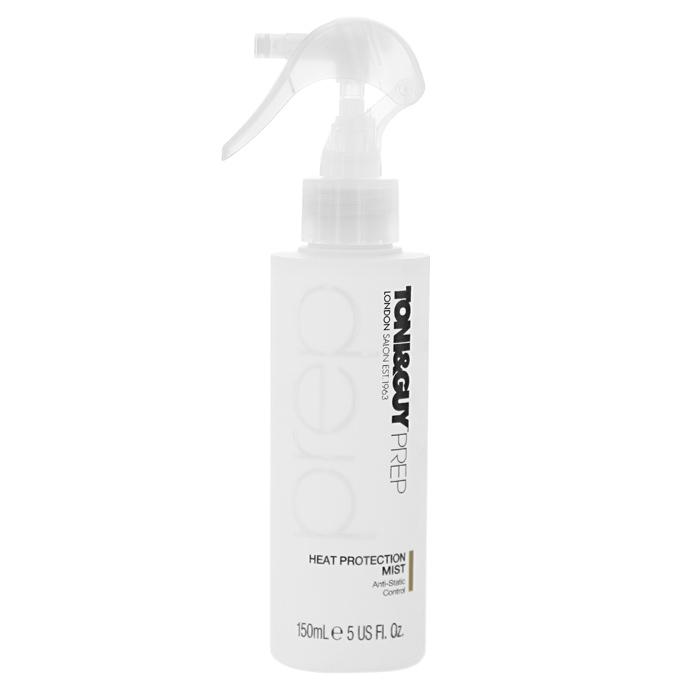 Toni&Guy Спрей для волос Prep. Антистатик, термозащитный, 150 мл50100105Термозащитный спрей для волос Toni&Guy Prep. Антистатик эффективно защищает от повреждений и ломкости во время укладки, кондиционирует волосы, делая их мягкими и избавляя от ощущения наэлектризованности. Товар сертифицирован.
