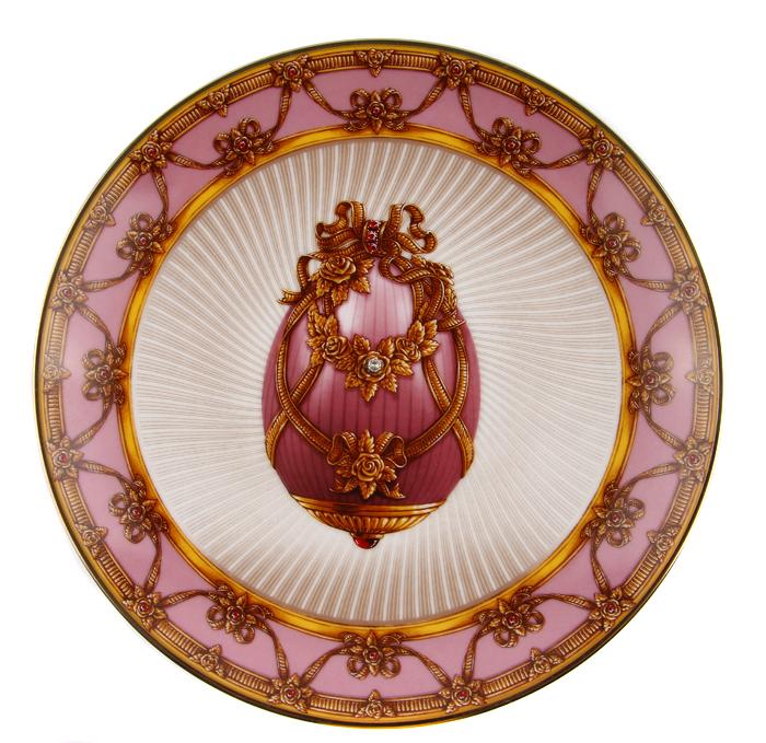 Тарелка Летний букет. Фарфор, золочение. Франция, Faberge, The Franklin Mint, 1980-1990-е гг