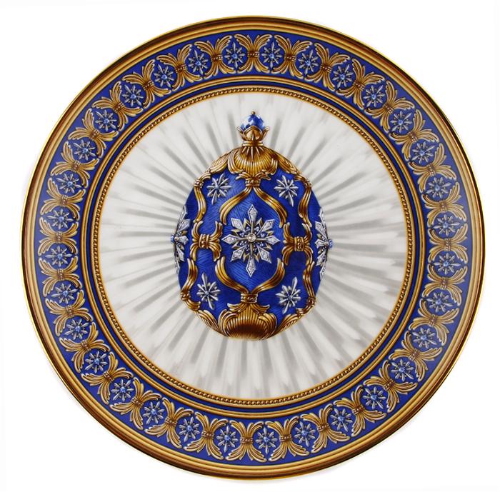 Тарелка Северная звезда. Фарфор, деколь, золочение. Франция, Faberge, The Franklin Mint, 90-е гг. ХХ века