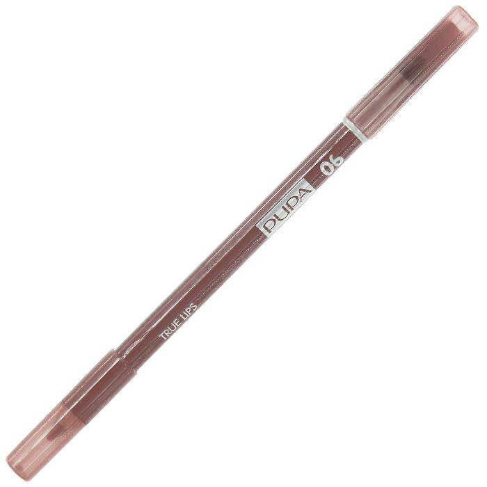 PUPA Карандаш для губ с аппликатором True Lips Pencil, тон 06 брусника с молоком , 1.2 г025606Контурный карандаш для губ Pupa True Lips с аппликатором для тушевки завершает макияж и позволяет достичь необыкновенного результата. Наносит равномерную линию, придающую безупречный контур губам, благодаря своей возможности удерживать помаду. Практичный аппликатор из латекса удобен для растушевки цвета на поверхности губ. Подходит для профессионального использования.