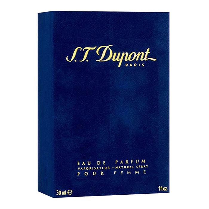 S.T. Dupont S.T. Dupont Pour Femme. Парфюмерная вода, 30 мл02392Аромат S.T. Dupont S.T. Dupont Pour Femme - это божественное воплощение совершенства, изысканности и элегантности, которое состоит из букета цветочных, фруктовых и древесных ароматов. Яркие и щекотливые нотки мандарина, магнолии, гардении, гвоздики и розы делают обладательницу превосходного аромата более женственной и очаровательной. Древесные ноты амбры, мускуса, ванили, сантала, пачули, кедра и дуба придают очарованию загадочную пряность и сексуальную раскованность. А классический набор нежных фруктовых и цветочных нот делают общую композицию утонченной и наиболее чувственной. Такой аромат украсит повседневные будни своей хозяйки и позволит ощущать себя уверенно в любой компании. Классификация аромата : цветочный. Верхние ноты: дыня, гальбанум, мандарин, бальзам из черной смородины, лимон. Ноты сердца: гвоздика, гардения, жасмин, орхидея, ландыш, цикламен, иланг-иланг. Ноты шлейфа: мох, сандал, мускус, кедр,...