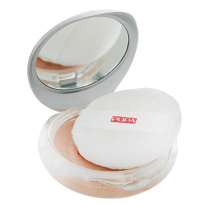 PUPA Пудра Pupa Silk Touch Loose Powder, тон №03 средне-бежевый, рассыпчатая, 9 г059703Рассыпчатая пудра Pupa Silk Touch Loose Powder - очень нежная невесомая пудра, придающая коже лица очаровательное сияние. Легкая текстура пудры равномерно распределяется, выравнивает цвет лица и маскирует мелкие недостатки, сохраняя естественный вид кожи. Пудра имеет интенсивный матирующий эффект и сохраняет безупречный вид вашего макияжа в течение всего дня. Благодаря содержанию экстракта алоэ вера пудра Pupa Silk Touch Loose Powder деликатно увлажняет и восстанавливает кожу лица, предохраняет ее от сухости. Состав пудры не содержит веществ, закупоривающих поры и вызывающих появление комедонов. Благодаря зеркалу и удобному спонжику вы сможете корректировать свой макияж в течение дня.