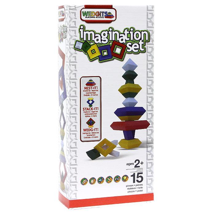 Wedgits Конструктор Imagination Set300650Конструктор Wedgits Imagination Set - это не просто игрушка - это еще и развивающее игровое пособие для вашего ребенка! Детали конструктора имеют правильную геометрическую форму, идеально стыкуются, ставятся друг на друга как вертикально, так и горизонтально, тем самым образуя тысячи неповторимых конструкций. С помощью элементов конструктора ребенок сможет собрать множество разноцветных сооружений. В комплект входят 15 пластиковых элементов и буклет с приведенными моделями для сборки. Игра с конструктором поможет ребенку научиться соотносить форму и величину предметов, развить мелкую моторику рук, логическое и пространственное мышление, цветовосприятие и звуковосприятие и творческие способности, а также концентрацию внимания и усидчивость. Характеристики: Средний размер элемента: 7,5 см x 7,5 см x 3,5 см. Размер упаковки: 13,5 см x 30 см x 7 см. Изготовитель: Китай.