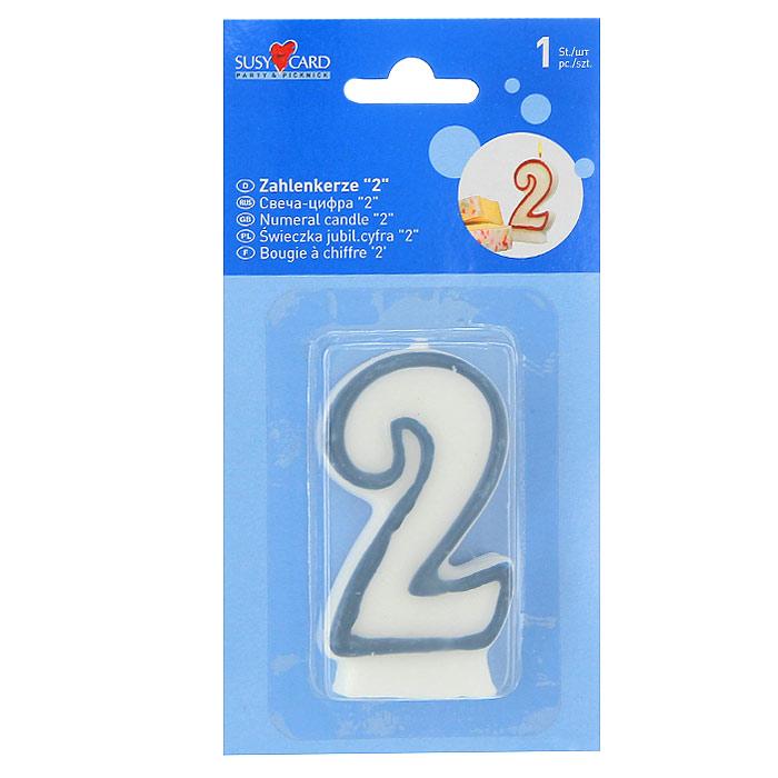 Свеча-цифра для торта 2, цвет: синий11142338Свеча в форме цифры 2 - отличное решение для декорирования торта, десерта ко дню рождения или юбилею. Характеристики: Высота свечи: 8 см. Размер упаковки: 9 см x 17,5 см x 1,5 см.