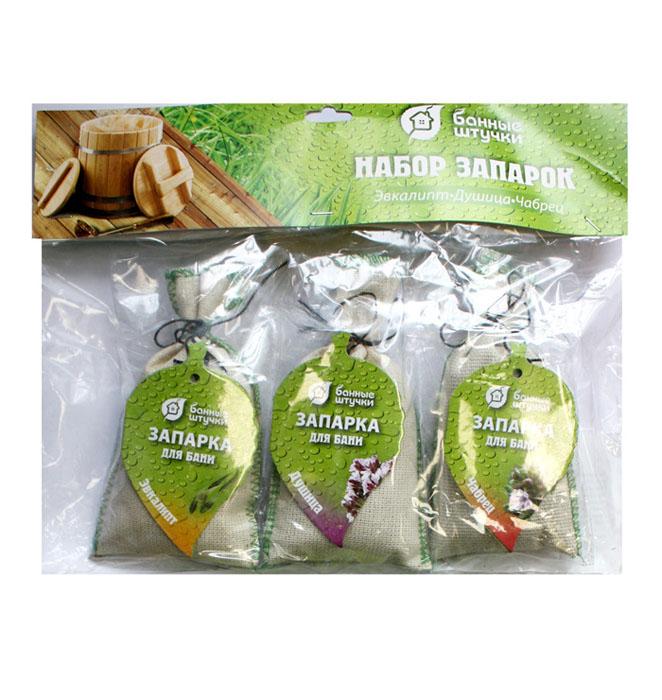 Набор запарок Банные штучки в сумочке: эвкалипт, душица, чабрец, 3 шт