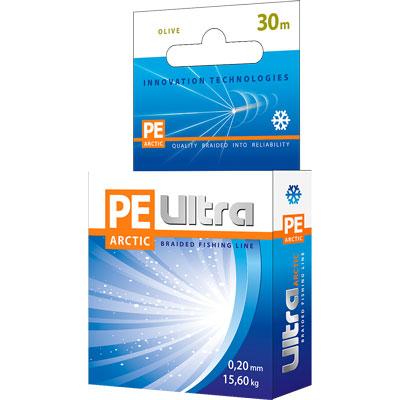 "Aqua Плетеный шнур Aqua ""PE Ultra Arctic Olive"", толщина 0,16 мм, длина 30 м"