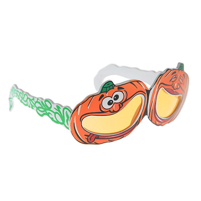 Карнавальные очки Хэллоуин. 2500225002/10Карнавальные очки Хэллоуин изготовлены из пластика и выполнены в виде двух улыбающихся тыковок. Очки отлично дополнят ваш маскарадный костюм и помогут создать яркий образ. Сделайте свой праздник веселым и ярким!