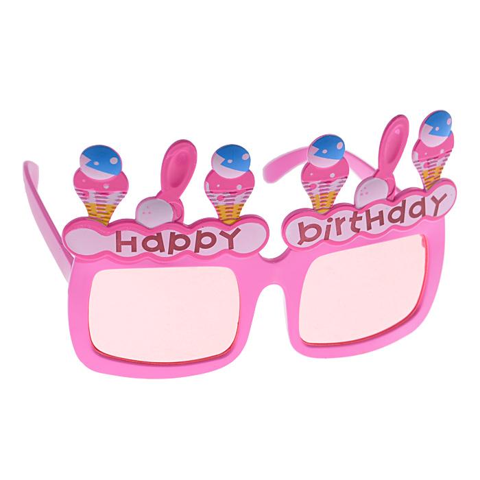 Карнавальные очки Мороженое, цвет: розовый24981/10Карнавальные очки Мороженое, выполненные из пластика, розового цвета, оформленные фигурками мороженого и надписью Happy Birthday, отлично дополнят ваш маскарадный костюм. Очки предназначены для быстрого и необременительного перевоплощения. Сделайте свой праздник веселым и ярким!