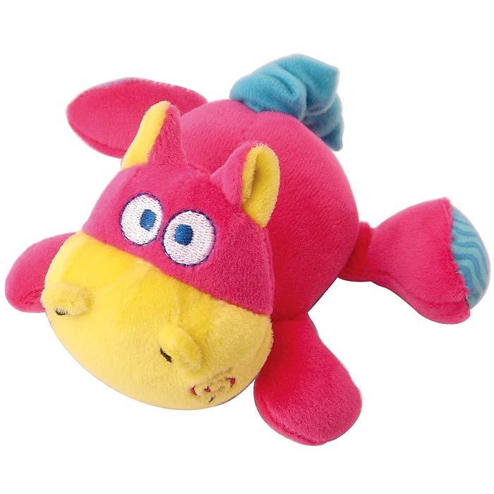 Мягкая игрушка Бегемотик33235Яркая мягкая игрушка Бегемотик понравится вашему малышу и не позволит ему скучать! Игрушка выполнена в виде очаровательного бегемотика из текстильных материалов различных фактур розового, голубого и желтого цветов. Стоит только потянуть за хвостик бегемотика, и игрушка начнет вибрировать и забавно смеяться до тех пор, пока хвостик не вернется в исходное положение. Яркая веселая игрушка поможет ребенку познакомиться с новым ощущением вибрации, развить мелкую моторику рук, зрительное и слуховое восприятие, тактильные ощущения и координацию движений, а милый жизнерадостный образ подарит малышу хорошее настроение!