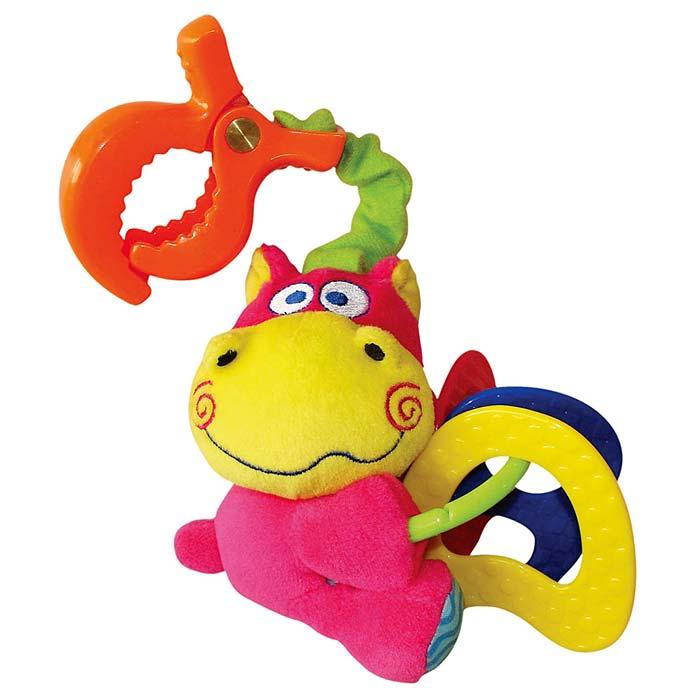 Мягкая игрушка-подвеска Бегемотик33246Мягкая игрушка-подвеска Бегемотик выполнена в виде симпатичного бегемотика ярко-розового, голубого и желтого цветов. К бегемотику крепится пластиковое кольцо, по которому передвигаются три пластиковых элемента разных цветов. К игрушке мягкой текстильной резинкой крепится прищепка, с помощью которой подвеску можно прикрепить к детской кроватке, коляске или креслу. Игрушка-подвеска поможет ребенку развить цветовое и звуковое восприятия, тактильные ощущения, мелкую моторику рук и координацию движений, а милый жизнерадостный образ подарит малышу хорошее настроение!