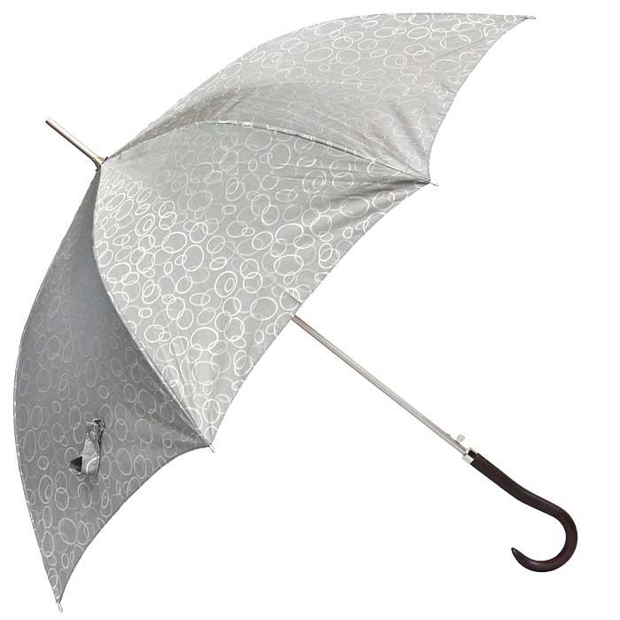Зонт-трость женский Edmins, полуавтомат, цвет: серый. 505 69505 69Стильный полуавтоматический зонт-трость Edmins, каркас которого выполнен из восьми металлических спиц, а купол - из полиэстера серого цвета, защитит вас в ненастную погоду. Зонт имеет удобную рукоятку закругленной формы, изготовленную из дерева. Зонт-трость Edmins имеет полуавтоматический механизм сложения: купол открывается нажатием кнопки на рукоятке, а закрывается вручную до характерного щелчка.