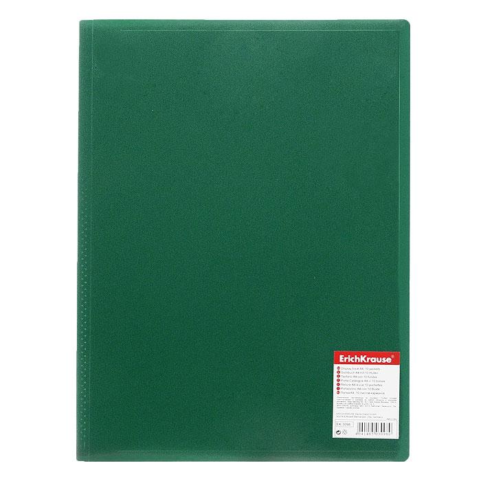 Папка с файлами Erich Krause Standard, 10 листов, цвет: зеленый3098Экономичная папка Erich Krause Standard предназначена для хранения часто используемых рабочих бумаг: прайс-листов, расчетных таблиц. Папка выполнена из полипропилена с прозрачными листами-карманами, скрепленными термосваркой. Характеристики: Вместимость: 10 вкладышей. Размер: 31 см х 23 см х 0,6 см. Изготовитель: Китай.