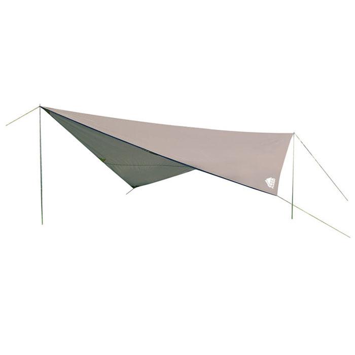 Тент Trek Planet Tent 400 Set, цвет: серый70280Универсальный тент Trek Planet Tent 400 Set предназначен для защиты от дождя и солнца и организации летней столовой, лагеря. Тканевая часть - из полиэстера с водоотталкивающей пропиткой, имеются две стальные стойки, растяжки и колышки. В собранном виде тент имеет небольшие размеры и не занимает много места при транспортировке. Особенности: Небольшой вес, Компактная упаковка, Стойки в комплекте, высота 2 метра, складываются вчетверо, Швы проклеены. Тент упакован в легкий и прочный чехол на застежке-молнии. Размер с учетом дуг (в сложенном виде, в чехле): 59 см х 10 см х 10 см.