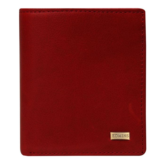 Портмоне женское Edmins, цвет: красный. 1165 ML1165 ML ED redЖенское портмоне Edmins выполнено из натуральной кожи красного цвета с глянцевой поверхностью. Внутри состоит из двух отделений для купюр, трех плоских отделений для мелких бумаг, двух отделений для кредитных карт, визиток и прочих мелких бумаг и отделения для мелочи на кнопке. Портмоне закрывается клапаном на кнопку. Такое стильное портмоне станет отличным подарком для человека, ценящего качественные и необычные вещи. Портмоне упаковано в коробку с логотипом фирмы.