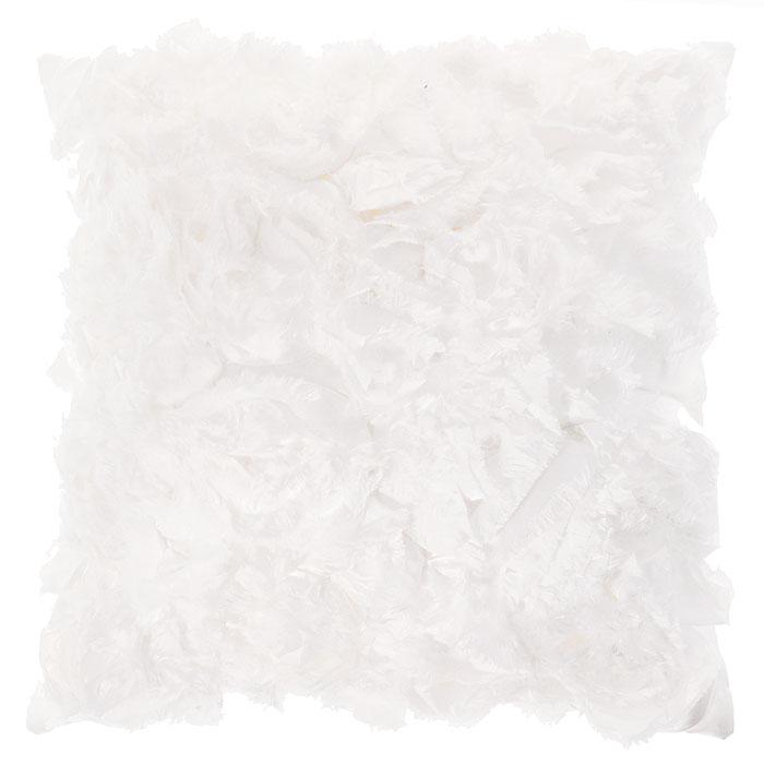 Декоративная подушка Коллекция, 40 х 40 см ПДЛ-6ПДЛ-6Декоративная подушка Коллекция, выполненная из полиэстера и силиконизированного волокна, станет отличным подарком для каждого. Белоснежная подушка декорирована вставками материала, распушенного по краю. Съемный чехол закрывается на застежку-молнию. Такая подушка подарит комфорт и уют, станет оригинальным украшением интерьера.